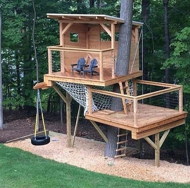 Pallet Perfect tree house