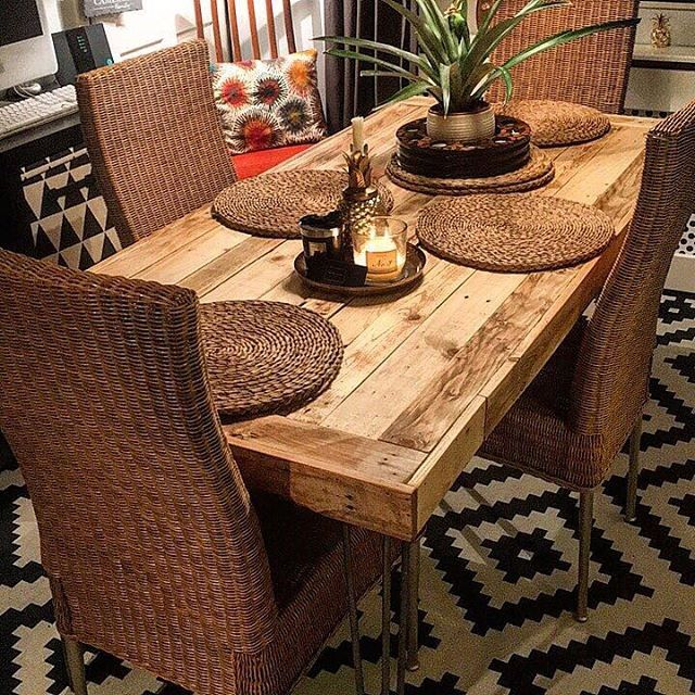 Pallet furniture dining table