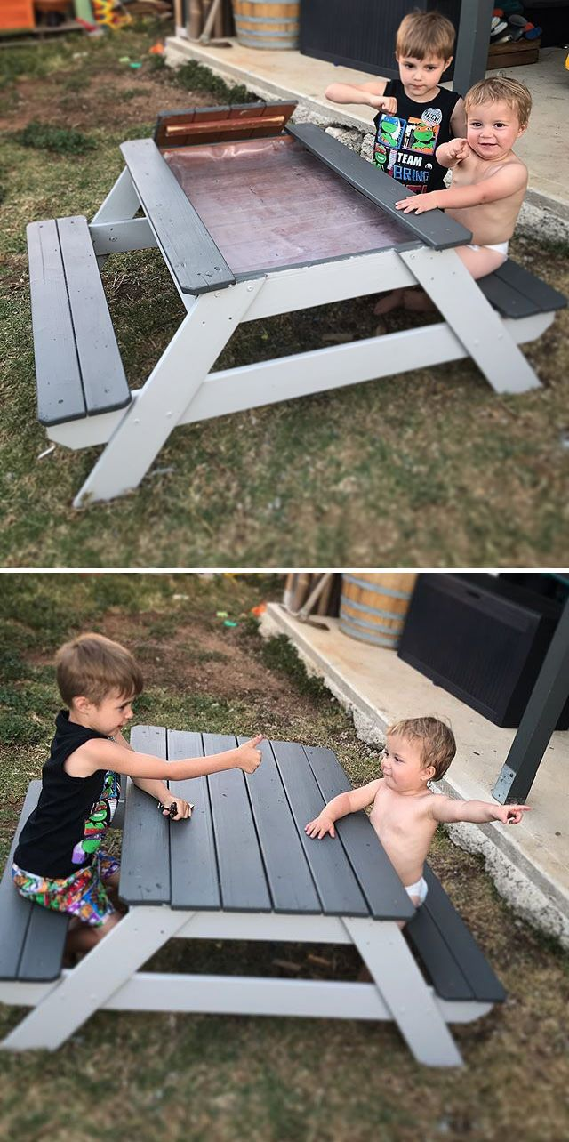 Pallet outdoor bench
