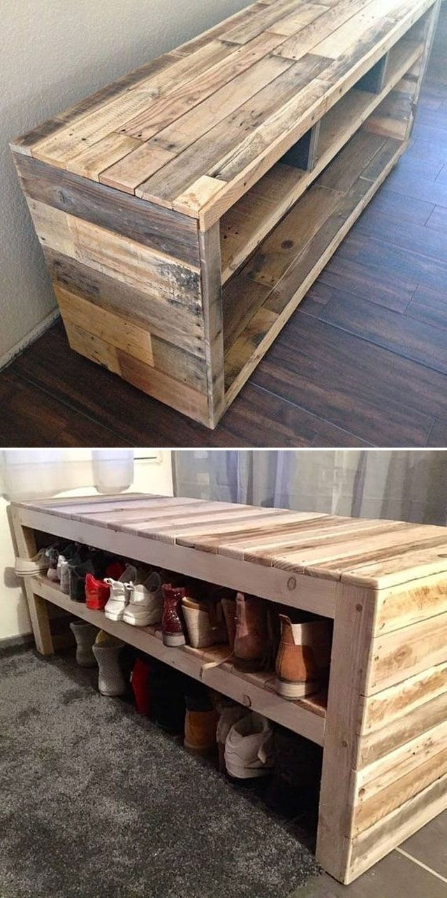 Pallet shoes bench