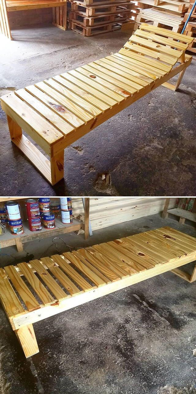 Pallet furniture bench