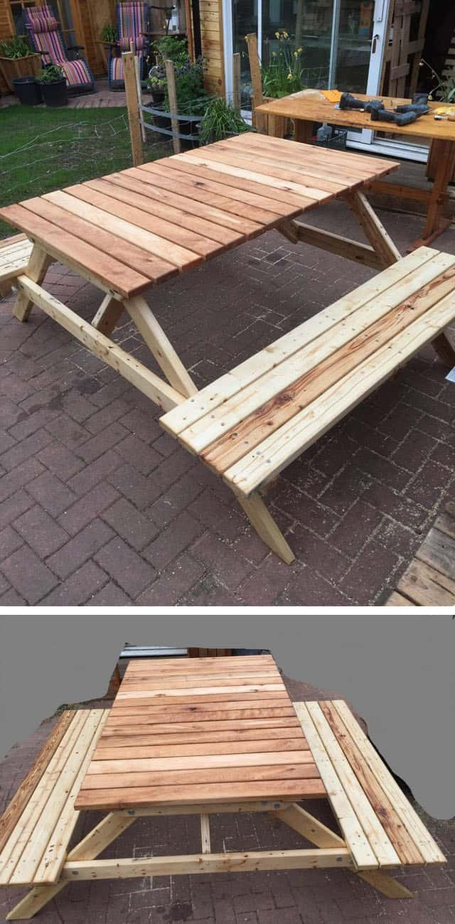 Pallet outdoor bench furniture