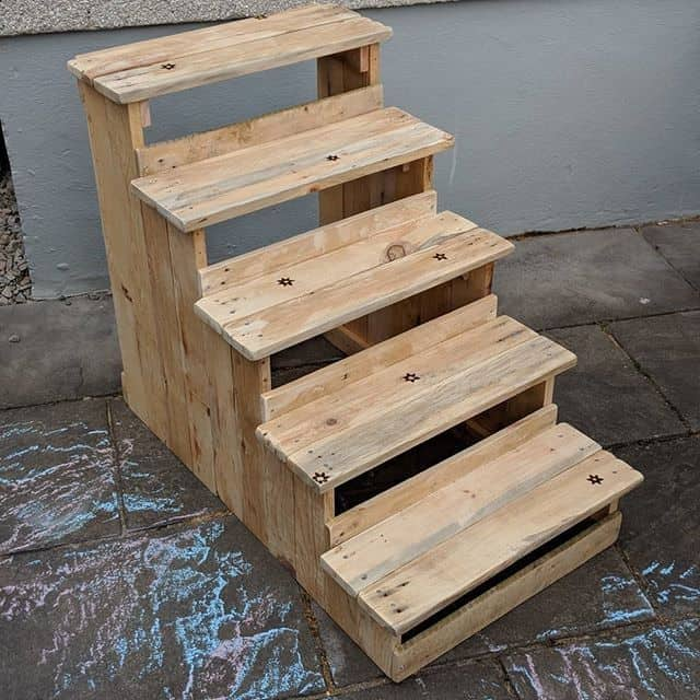 pallet stairs ideas