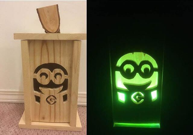 Pallet glowing crafts art