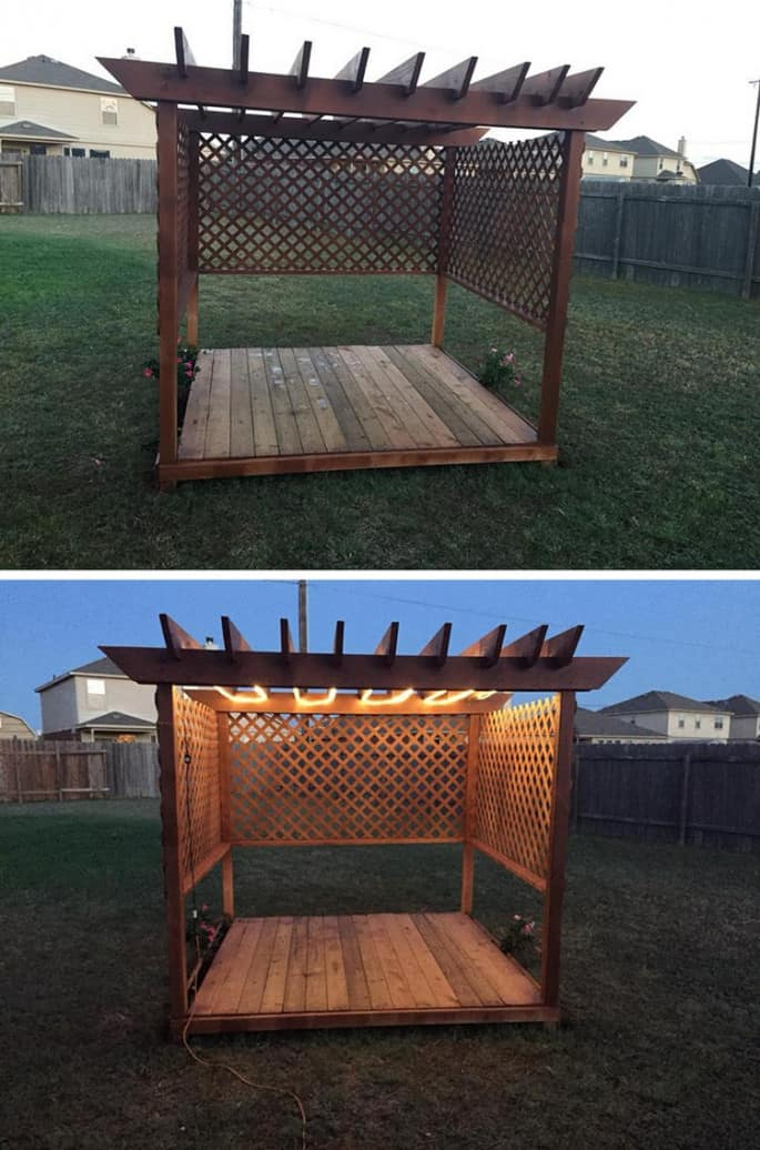 best pallet pergola style project