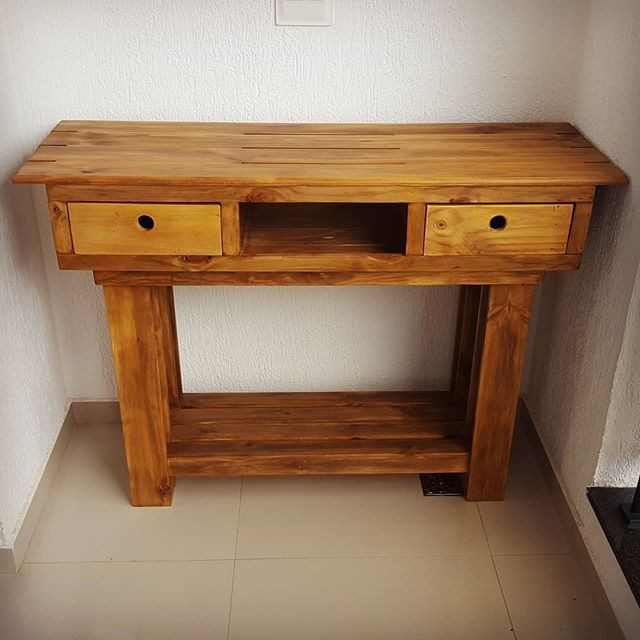 Pallet side table with drawers ideas