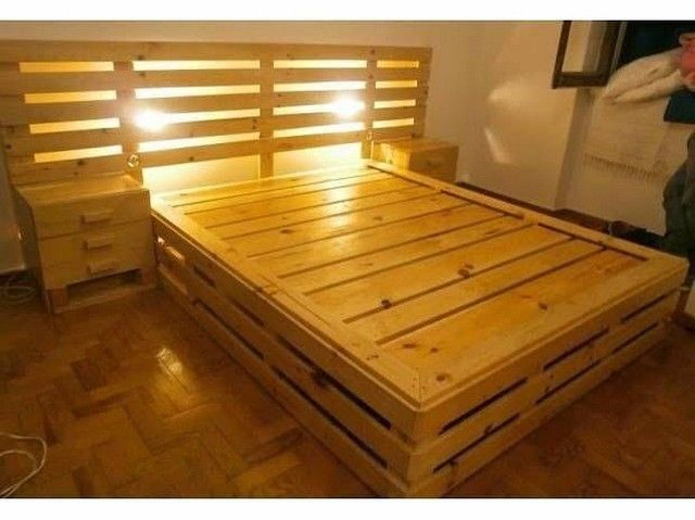 Pallet glowing bed ideas