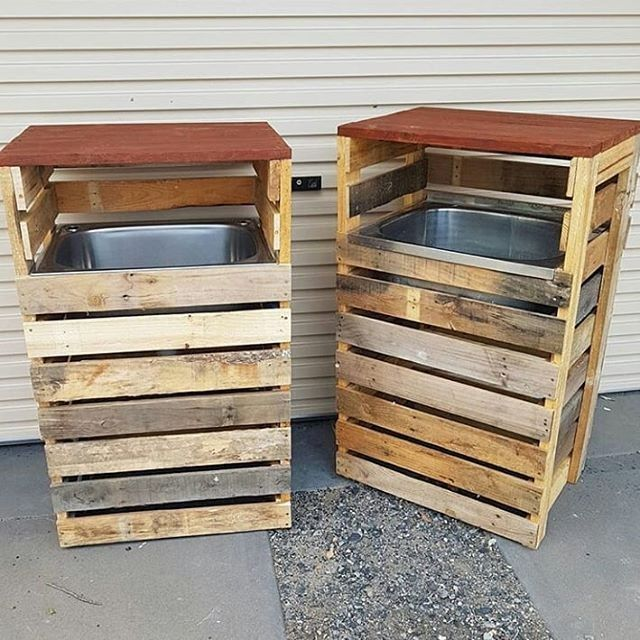 Pallet trash bin projects