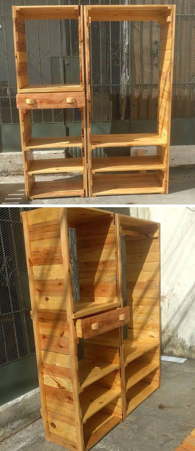 Pallet storage self projects