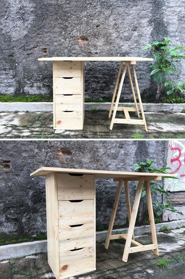 Pallet side table projects