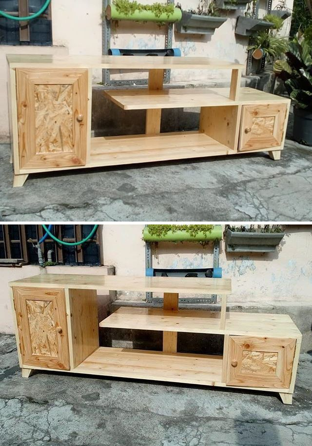 Pallet storage drawers projects