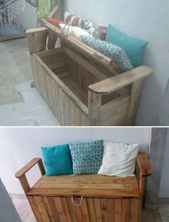 Pallet bench furniture ideas