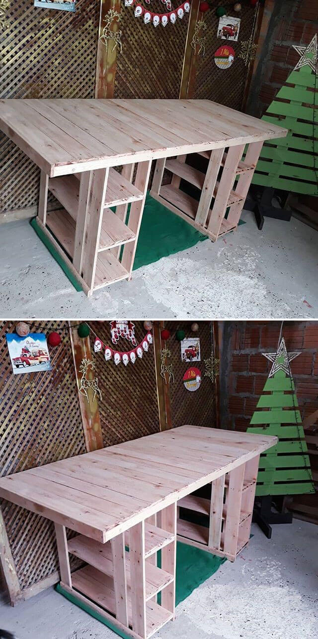 pallet table with shelf ideas
