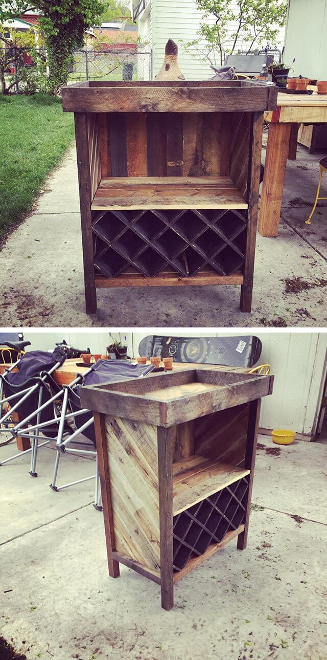 awesome pallet storage table ideas