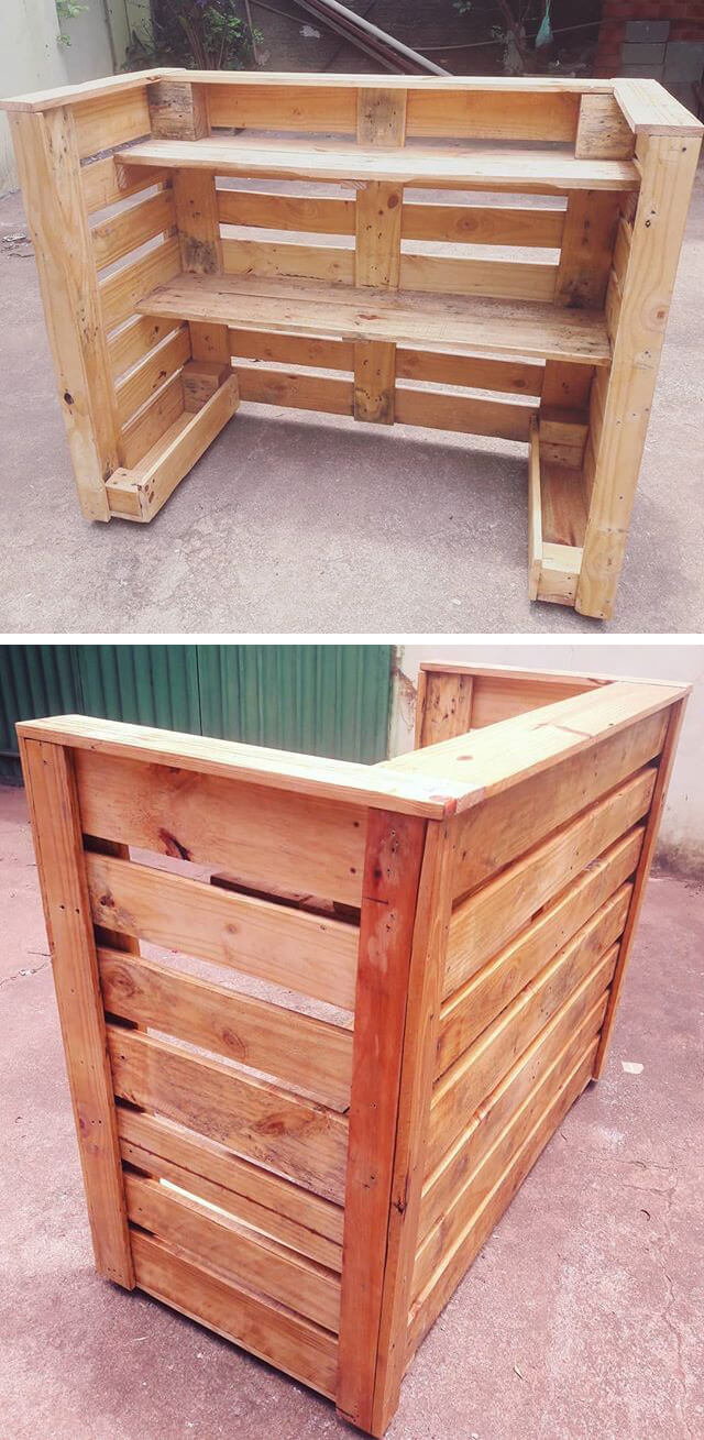 outdoor pallet bar ideas