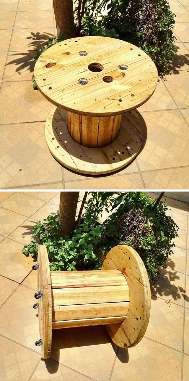 rounded pallet table ideas